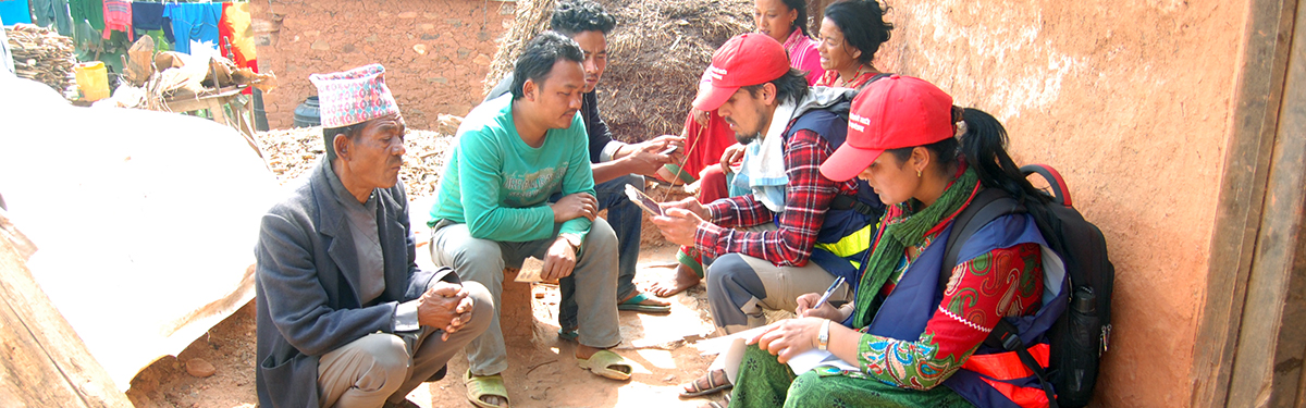 Nepal beneficiaries being enrolled in the EHRP