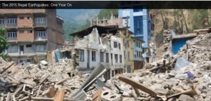 Nepal Earthquake: One Year Anniversary
