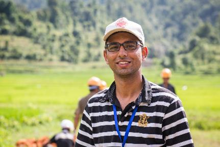 Civil Engineer, Ayush Baskota, District Coordinator Nuwakot, National Society for Earthquake Technology-Nepal (NSET)