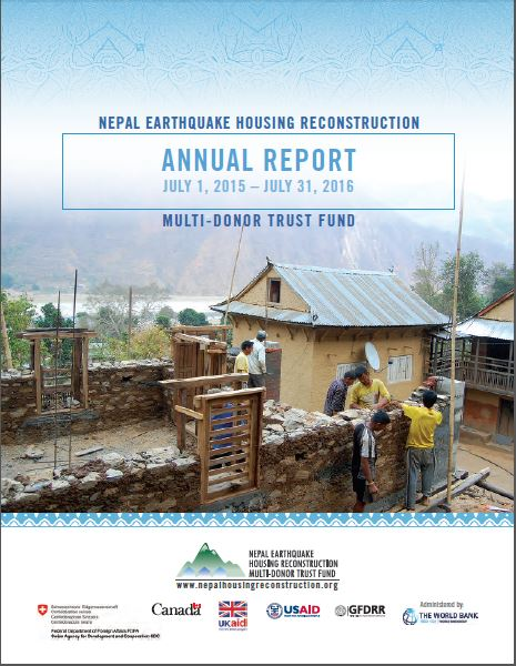 Annual Report Nepal Earthquake Housing Reconstruction MDTF