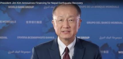 President Kim Announces Financing for Nepal Earthquake Recovery