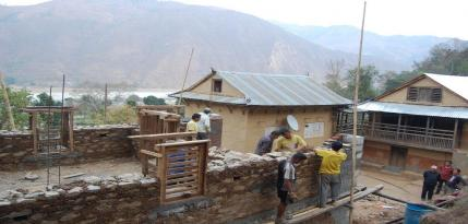 Earthquake-safer housing reconstruction in action